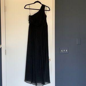 Black one shoulder Jcrew bridesmaid dress, size 6